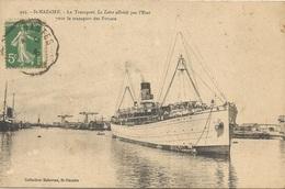 """Saint Nazaire Le Transport """"La Loire"""" Affrété Par L'Etat Pour Le Transport Des Forçats - Bagne & Bagnards"""