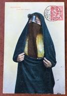 ALEXANDRIE EGYPT Annullo Su 10 C. ALEXANDRIE 25/7/1911  SU CARTOLINA JEUNE FILLE INDIGENE - Israele