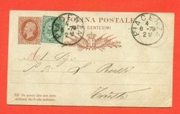 INTERI POSTALI REGNO-CARTOLINE POSTALI - CP N.4 Senza Mill. -DA PIACENZA A TRIESTE - 1861-78 Vittorio Emanuele II