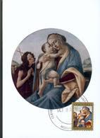 37730 U.s.a.  Maximum 2008, Painting Of Botticelli, Madonna And Child And St.john,  Christmas 2008 - Maximumkarten (MC)