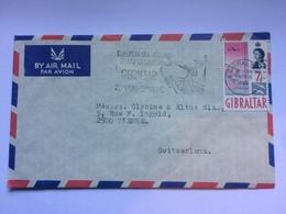 GIBRALTAR - 1966 Air Mail Cover Sent To Bienne Switzerland - Gibilterra