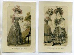 MODE 2 Cartes Femmes L'Elégance En 1829 Et 1927    /D13-2016 - Mode