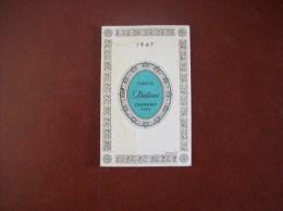 Calendrier Parfumé De 1967: Parfum Dédicace, Cheramy, Paris - Publicité Coiffure G.Le Gall à Saumur (49) - Calendriers