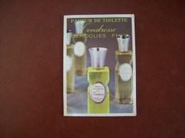 Calendrier Parfumé De 1974: Bernoues France, Parfum Tendresse-Publicité Coiffure G.Le Gall à Saumur (49) - Calendriers