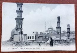 HELIUFJLIS EGYPT Annullo Su 4 Rosso   SU CARTOLINA  CAIRO  TOMBA DE MAMELUKES E CITADEL  IL 24 /12/11 - Israele