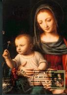 37731 U.s.a.  Maximum 2007, Painting Of Bernardino Luini Madonna  With Carnation  Nelke,  Christmas 2007 - Maximumkarten (MC)