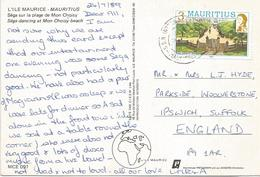 Mauritius 1989 SSR International Airport Place D'armestic Viewcard - Mauritius (1968-...)