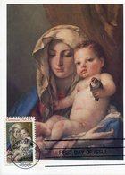 37732 U.s.a.  Maximum 1982, Painting Of Giovan Battista Tiepolo Madonna Of The Goldfinch, Christmas 1982 - Maximumkarten (MC)
