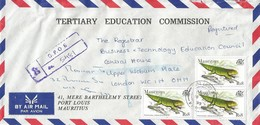 Mauritius 1999 Port Louis Lizard Phelsuma Edwardnewtonii Registered Cover - Mauritius (1968-...)