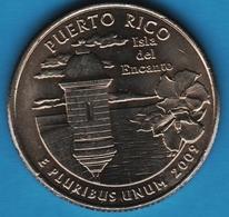 USA ¼ Dollar Washington Quarter 2009 D PUERTO RICO ISLA DEL ENCANTO - Federal Issues