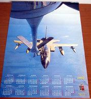CALENDARIO POSTER AERONAUTICA MILITARE ITALIANA 1992 - 68 X 48,5 Cm. - Calendars