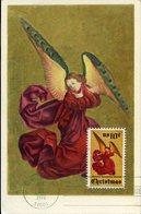 37734 U.s.a.  Maximum 1974 Altarpiece Of French Artist,  Angel,  Vintage Card, Christmas 1974 - Maximumkarten (MC)