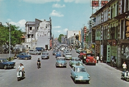Singapore - North Bridge Road , Old Cars - Singapore