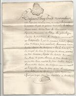 GENERALITE DE BORDEAUX , 1771 : DECHARGE ENTRE HABITANTS DE  SOULIGNAC - Manuscripten