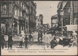 La Place De La Liberté, Incendie De Salonique, 1917 - Collas & Cie CPA - Greece