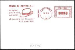 Italia/Italy/Italie: Ema, Meter, Specimen, Cappello, Chapeau, Hat - Tessili