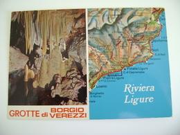 BORGIO VEREZZI    SAVONA LIGURIA     Carte Geographique   CARTINA GEOGRAFICA   MAPPA MAPS   VIAGGIATA - Carte Geografiche