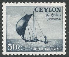 Ceylon. 1951-54 Definitives, 50c MH. SG 426 - Sri Lanka (Ceylon) (1948-...)