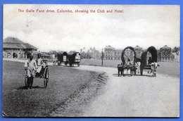 COLOMBO (Ceylon, Sri Lanka), The Galle Face Drive, Showing The Club And Hotel, Gel.1910, Gute Erhaltung, Abgelöste Marke - Sri Lanka (Ceylon)