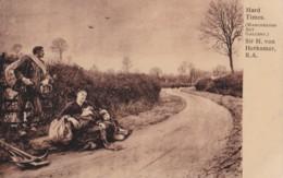 AM61 Fine Art - Hard Times By Sir H Von Herkomer - Paintings
