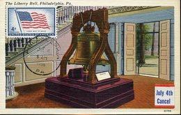 37738 U.s.a. Maximum  1958 Philadelphia, 4c. Stamp Liberty Bell Philadelphia - Maximumkarten (MC)