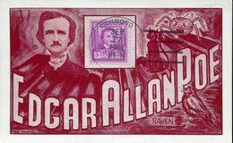 37739 U.s.a. Maximum 1951 100th Anniversary Of Death Of Edgar Allan Poe, Writer, Ecrivain - Maximumkarten (MC)