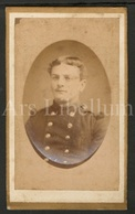 Photo / CDV / Militair / Soldier / Soldat / Photographer A. Byl / Aalst / Alost / 2 Scans / 1883 - Guerra, Militares