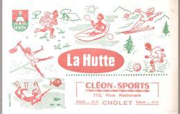 Buvard LA HUTTE Buvard Offert Par Cléon-Sports 172, Rue Nationale à Cholet - Sports