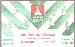 Buvard LA HUTTE Buvard Offert Par La Clef Des Champs 15, Rue Des Gentilshommes à LA ROCHELLE - Sports