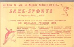 Buvard SAXE SPORTS SKI MONTAGNE PATINAGE JEUX 18,Avenue De Saxe à LYON - Sports