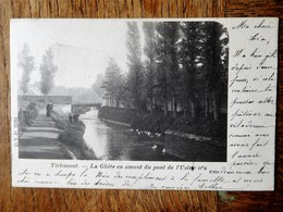 Tirlemont 1901 La Ghète En Amont Du Pont De L'usine N°2 - Tienen