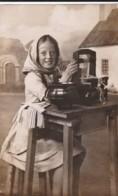 AQ74 - RPPC - Young Girl Weaving - Photographs