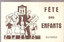 Buvard JOUETS Jeudi 24 Juin 1954 Fête Des Enfants Jeux Jouets - Enfants
