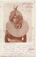 New Guinea Savage  No 41 J. Brignon P. Used Penang To Carmaux . Text : Affreuse Tete De Cannibale - Papua New Guinea