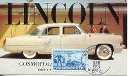 37742 U.s.a. Maximum 1953, American Automobil Association, Oldtimer Auto Lincoln - Maximumkarten (MC)