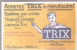 Buvard Jouet TRIX La Merveilleuse Construction Métallique 2, Rue Béranger à Paris - Bambini