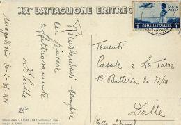FASCISMO XX BATTAGLIONE ERITREO 1938 ILLUSTRATORE FERRARI - Reggimenti