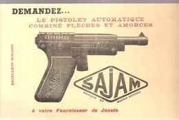 Buvard Jouet SAJAM Le Pistolet Automatique Combiné Flèches Et Amorces - Enfants