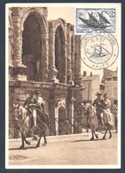 CARTE MAXIMUM - 1957 - JOURNEE DU TIMBRE - ARLES 16/03/1957 - Cartoline Maximum