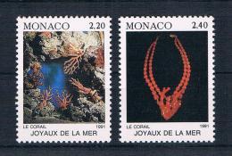 Monaco 1991 Korallen Mi.Nr. 2015/16 Kpl. Satz ** - Monaco