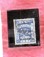 PALESTINE PALESTINA 1922 13m USATO USED OBLITERE' - Palestina