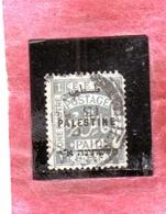PALESTINE PALESTINA 1922 1pi USATO USED OBLITERE' - Palestina