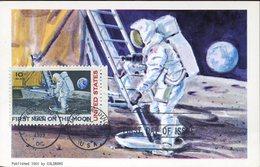 37746 U.s.a. Maximum 1969 First Man On The Moon, Homme Sur La Lune, - Maximumkarten (MC)
