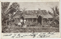 Nouvelles Hebrides  Premiere Habitation D' Un Colon  Used Hebrides  To Coffranc Neuchatel New Caledonia Stamp - Vanuatu