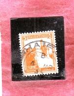 PALESTINE PALESTINA 1927 1942 CITADEL AT JERUSALEM 5m USATO USED OBLITERE' - Palestina