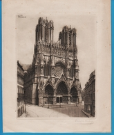 Victor Valery (1889-1910) DESSIN Cathédrale De Reims - Disegni