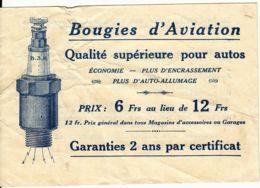 FRANCE - Publicité-Bon D'achat Pour Des Bougies D'Aviation Pour Autos. - Advertising