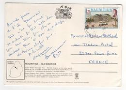 Beau  Timbre , Stamp  Sur CP , Carte , Postcard Du ?? - Maurice (1968-...)