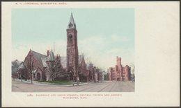Central Church And Armory, Worcester, Massachusetts, C.1904 - Lundborg U/B Postcard - Worcester