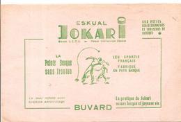 Buvard ESKUAL JOKARI La Pratique Du Jokari Assure Une Longue Et Joyeuse Vie Fabriqué Au Pays Basque - Sports